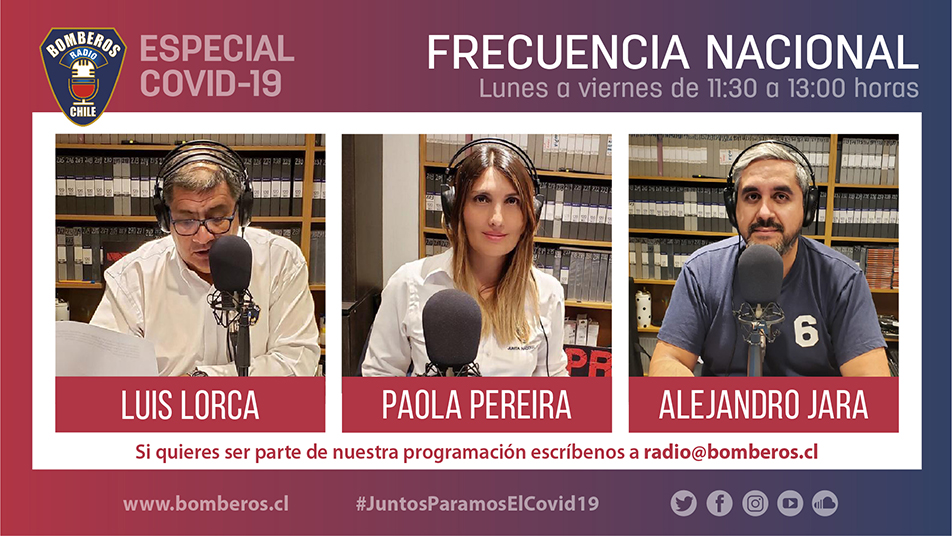 #JuntosParamosElCovid19: Programación Especial en Radio Bomberos de Chile
